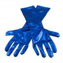 Metalliska blå handskar