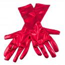 Metalliska röda handskar