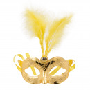wholesale Joke Articles: Venetian mask metallic gold
