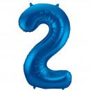 Großhandel Geschenkartikel & Papeterie:86 cm Nummer 2 Blau
