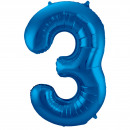 Großhandel Geschenkartikel & Papeterie:86 cm Nummer 3 Blau
