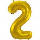 Großhandel Geschenkartikel & Papeterie: Gold Folienballon Bild 2-86 cm