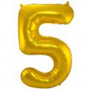 Großhandel Geschenkartikel & Papeterie: Gold Folienballon Abbildung 5-86 cm