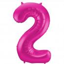 Großhandel Geschenkartikel & Papeterie: Magenta Abbildung Balloon Abbildung 2-86 cm