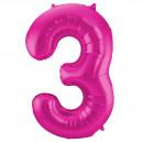 Großhandel Geschenkartikel & Papeterie: Magenta Abbildung Balloon Abbildung 3-86 cm