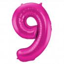 Großhandel Geschenkartikel & Papeterie: Magenta Abbildung Balloon Abbildung 9-86 cm