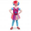Clown kostym för flickor - barnstorlek M