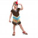 wholesale Costumes: Indians Dress Girls 2-piece Child Size S