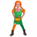 Großhandel Spielwaren: Red -Borten-Mädchen Kleid Kinder Größe S