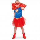 Superhero Girl Suit Girls - Storlek 98 - 116