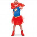 Superhero Girl Suit Girls - storlek 116 - 134