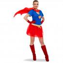 Sexig Super Woman Outfit Ladies - storlek L - XL