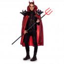 Großhandel Verkleidung & Kostüme: Red-Black Devil Cape M / L