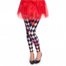 grossiste Pantalons: Legging Clown Motif Diamant