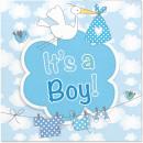 Servietten Geburt Junge Es ist ein Junge - 20 Stüc