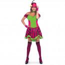 Großhandel Kleider: Steampunk Frauen-Kleid Neon L / XL