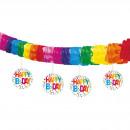 Großhandel Sonstige: Banner baumelnde Ausschnitte Rainbow Dot