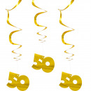 wholesale Decoration: Spiral Hangdecoration 50 Gold