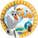 Großhandel Lizenzartikel: Olaf frozen Teller - 8 Stück