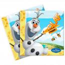 Großhandel Lizenzartikel: Olaf frozen Servietten - 20 Stück