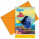 wholesale Licensed Products: Disney Finding Dory Invitations - 6 pieces