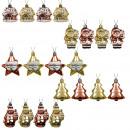 ingrosso Pendenti: Charms albero di Natale 20 pezzi set oro / bordea