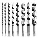 grossiste Mallettes, boites à outils et kits: 8 mèches de tarière Jeu de forets hélicoïdaux ...