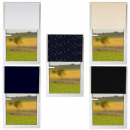 groothandel Vitrage & Gordijnen: Klemmfix verduisteringsgordij n 85x150cm sterren