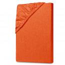 groothandel Bedtextiel & matrassen: Jersey kinderen Hoeslakens 70x140cm oranje