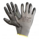 Großhandel Fashion & Accessoires: Arbeitshandschuhe Nylon PU Schwarz Größe: L