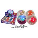 Glitzerball Fische leuchtend 65mm - im Display