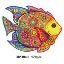 Wooden puzzle - mosaic - fish