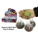 wholesale Toys: Mesh Ball Rainbow - in the Display