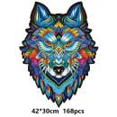 grossiste Jouets: Puzzle en bois - mosaïque - loup