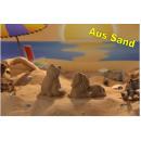 moldes de arena 3D juego de 2 Gato Caballo - en ca