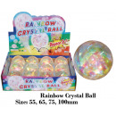 wholesale Toys: Glitterblümchen 100 mm RAINBOW with light - in Dis