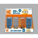 Großhandel Lizenzartikel: Minion 3D Becher - im Display