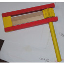Wooden ratchet-ferrous