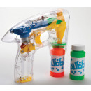wholesale Toys: Soap bubble pistol glowing with batteries