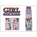 Girl Sticker - im Display
