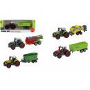 Großhandel Spielwaren: Traktor mit Anhänger - Metallguss - im VE