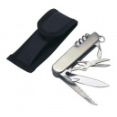 Großhandel Outdoor & Camping: Taschenmesser Edelstahl mit 11 Funktionen mit Etui