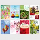 Glückwunschkarte Grußkarte Zahlengeburtstag 30-60