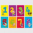 Glückwunschkarte Grußkarte Zahlengeburtstag 1-8 Ja