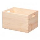 Holzkiste stapelbar, Aufbewahrungsbox Holz, Natur,
