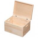 Holzkiste mit Deckel, Aufbewahrungsbox ...