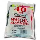 Großhandel Wäsche: 40 Stück Wäscheklammern, 7,5 x 1,3 x 1 cm, ...