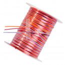 Großhandel Geschenkverpackung: Geschenkband auf Spule, Farbe rot,lila,pink,orange