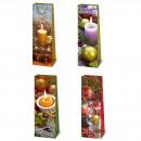 Flaschentüte Weihnachten Kerzenschein - Jumbo 39 x
