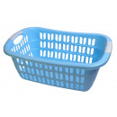 Großhandel Wäsche: Wäschekorb in blau 55 x 37 x 20 cm Wäschewanne Wäs